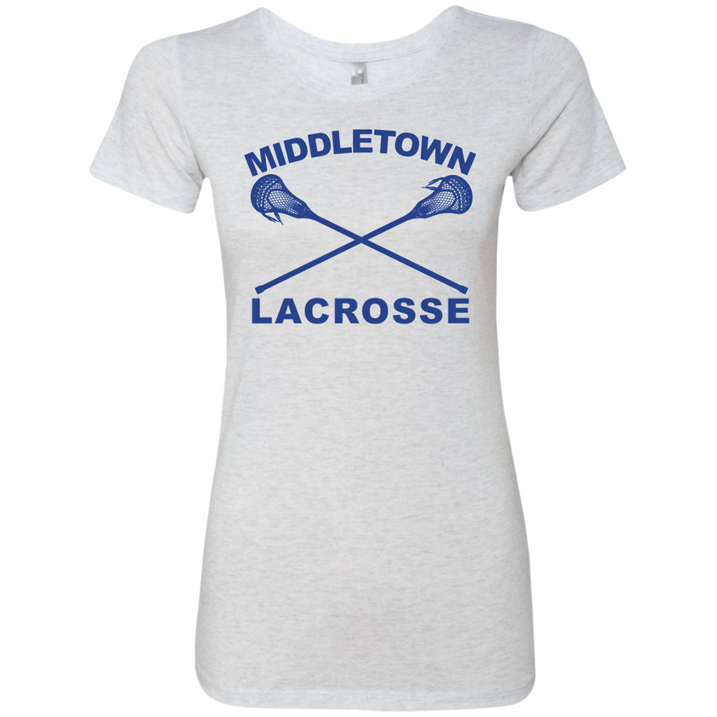 Women's Premium T-Shirt - Middletown Girls Lacrosse - Sticks Logo