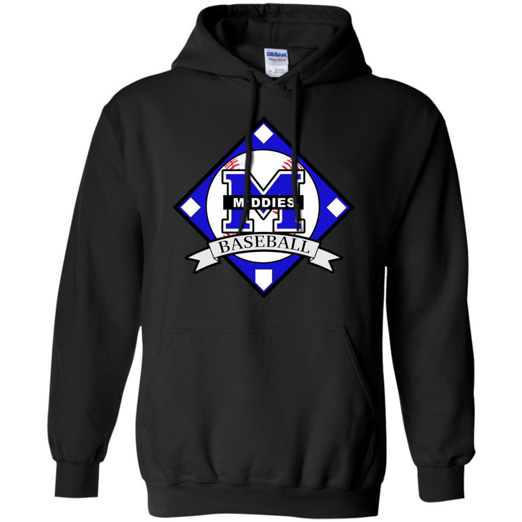 Men's Hooded Sweatshirt - Middletown Baseball - Diamond Logo