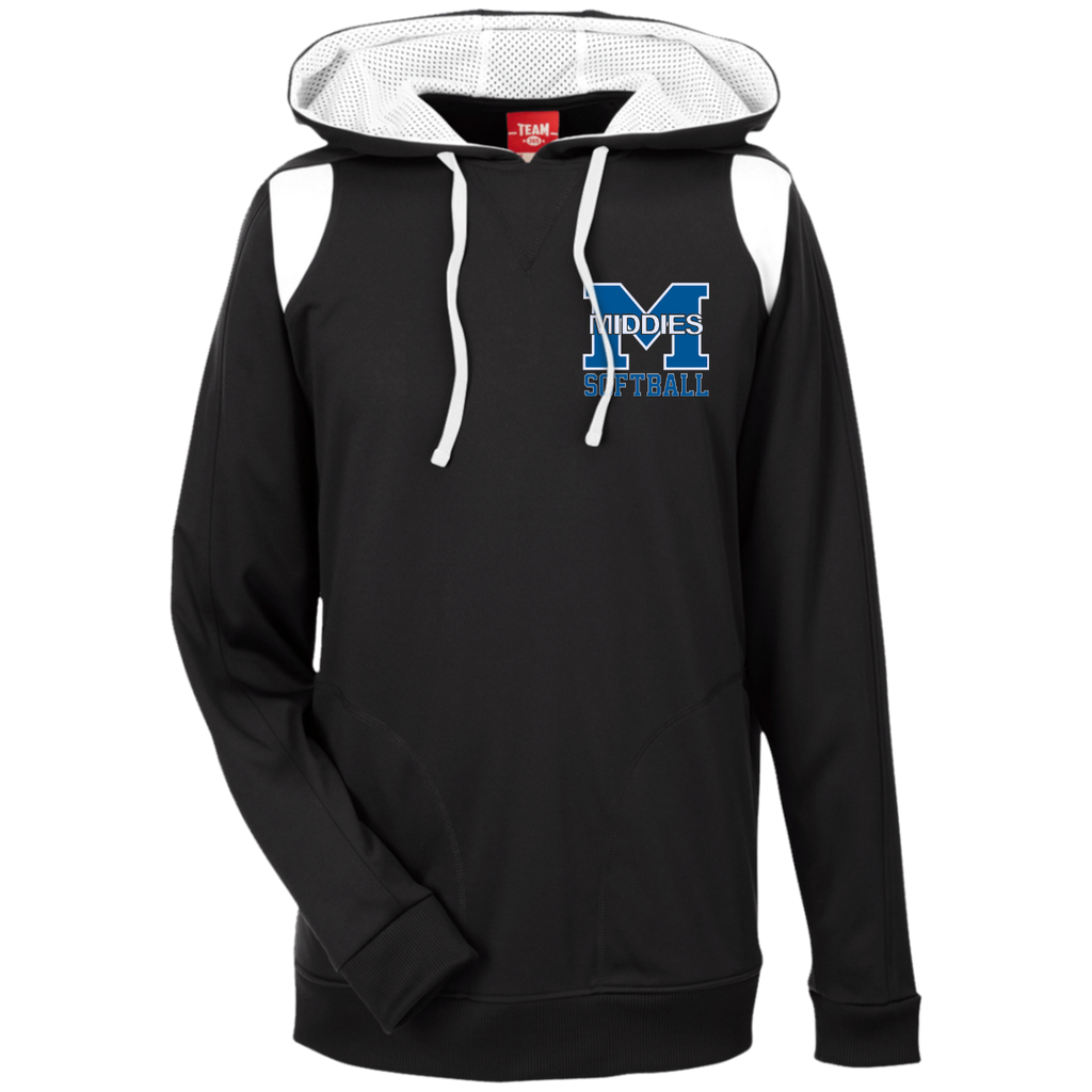 Men's Colorblock Hooded Sweatshirt - Middletown Softball