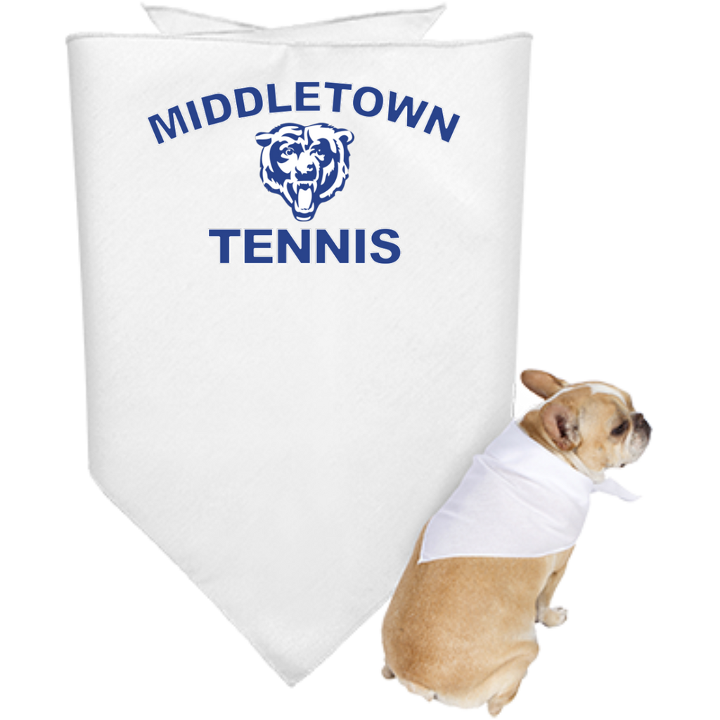 Doggie Bandana - Middletown Tennis - Bear Logo