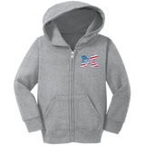 Toddler Full-Zip Hooded Sweatshirt - Middletown American Flag