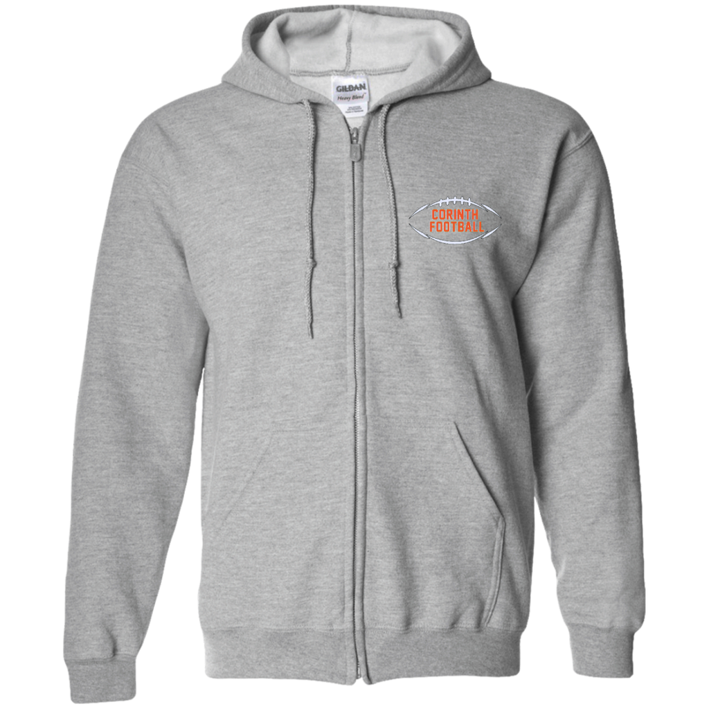 Men's Full-Zip Hooded Sweatshirt - Corinth Football