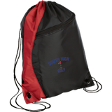 Drawstring Bag with Zippered Pocket - South Glens Falls Golf