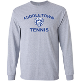 Men's Long Sleeve T-Shirt - Middletown Tennis - Bear Logo