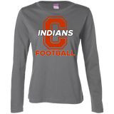 Women's Long Sleeve T-Shirt - Cambridge Football - C Logo