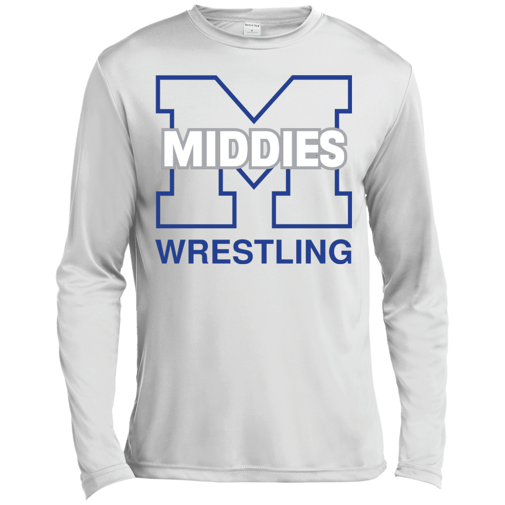 Men's Moisture Wicking Long Sleeve T-Shirt - Middletown Wrestling