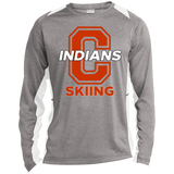 Heather Colorblock Long Sleeve T-Shirt - Cambridge Skiing - C Logo