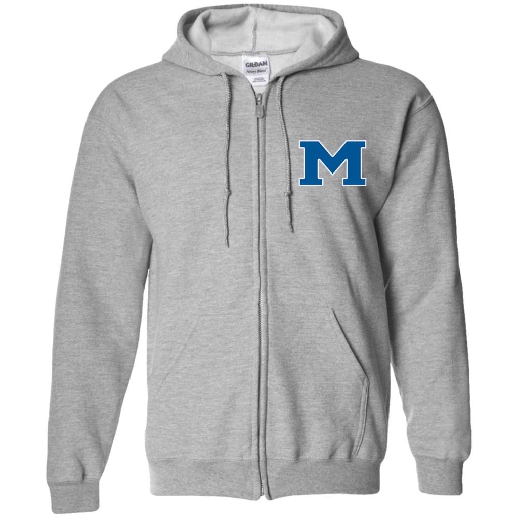 "Men's Full-Zip Hooded Sweatshirt - Middletown Block ""M"""