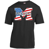 Youth Moisture Wicking T-Shirt - Middletown American Flag