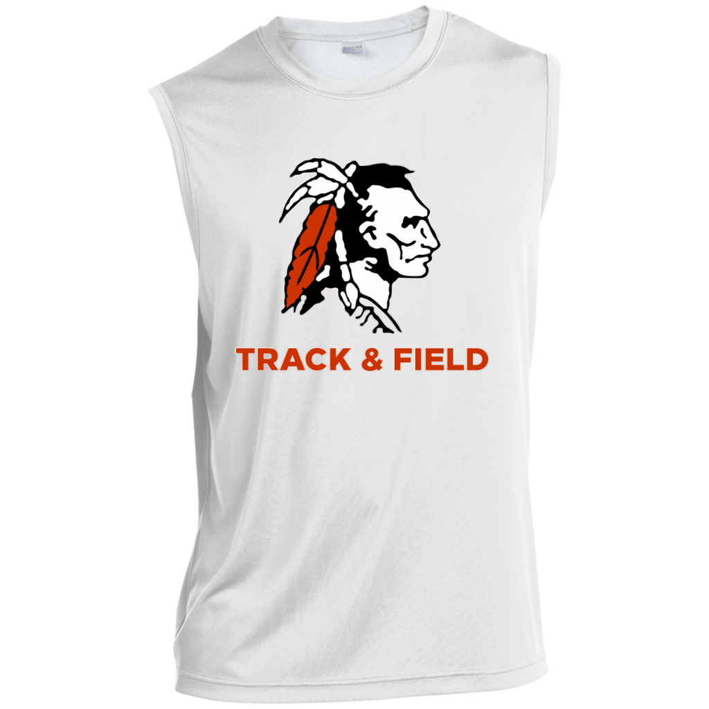 Sleeveless Performance T-Shirt - Cambridge Track & Field - Indian Logo