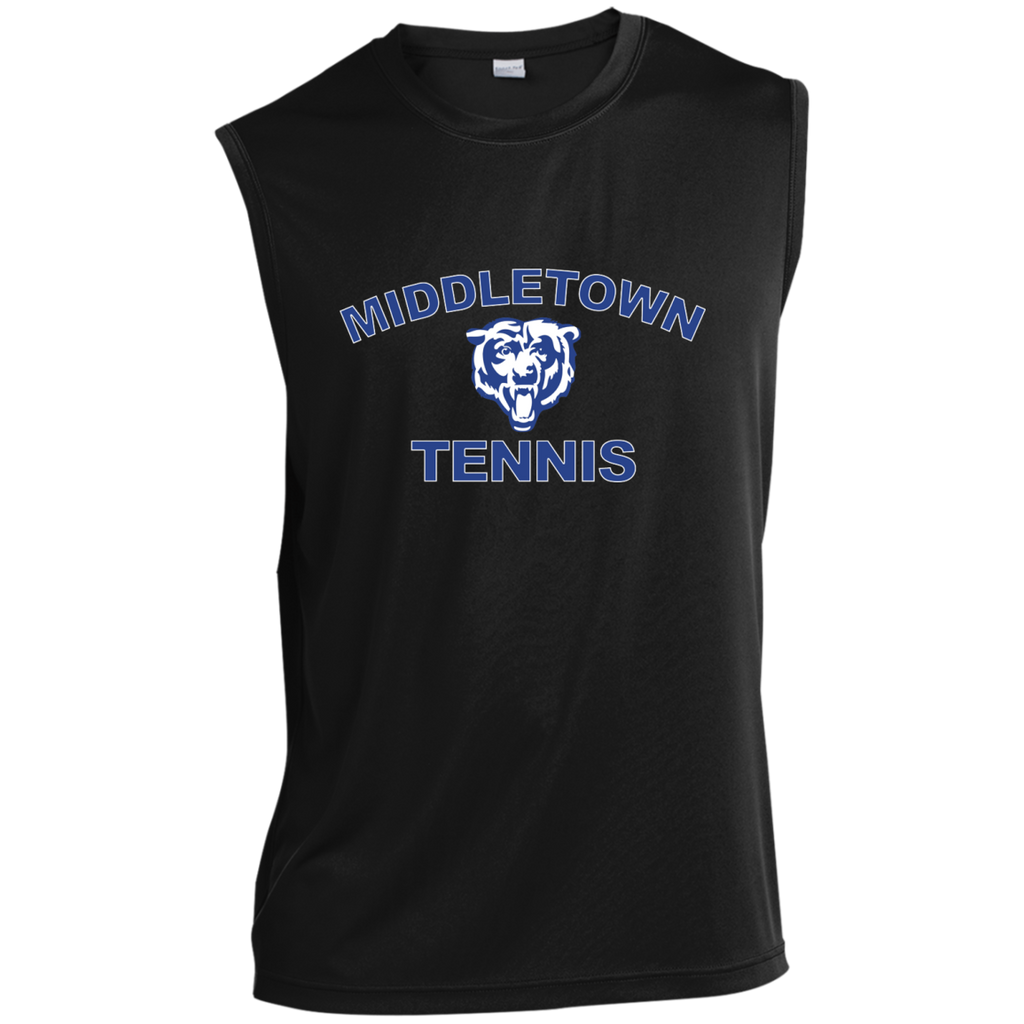 Sleeveless Performance T-Shirt - Middletown Tennis - Bear Logo