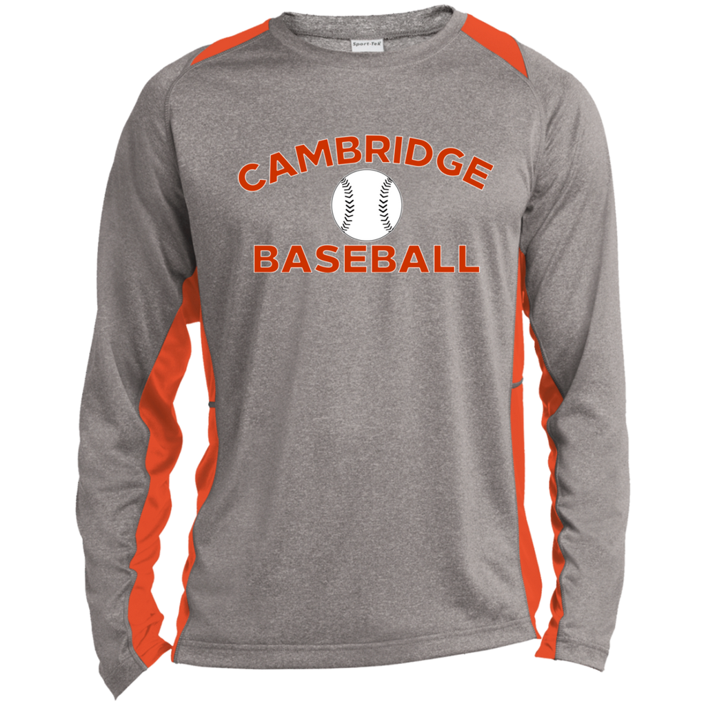 Heather Colorblock Long Sleeve T-Shirt - Cambridge Baseball