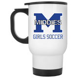 Travel Coffee Mug - Middletown Middie Girls Soccer