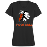 Women's Moisture Wicking T-Shirt - Cambridge Football - Indian Logo