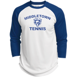 3/4 Sleeve Baseball T-Shirt - Middletown Tennis - Bear Logo