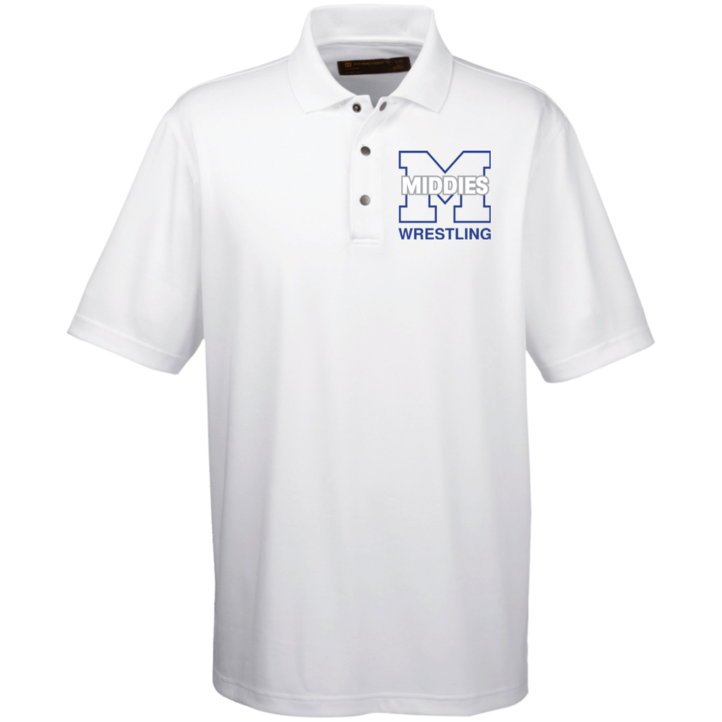 Men's Solid Moisture Wicking Polo - Middletown Wrestling