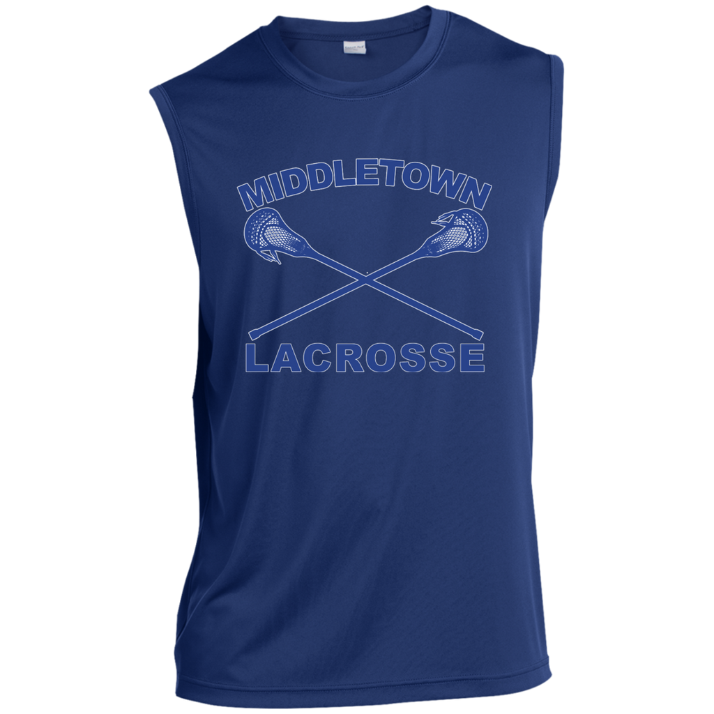 Sleeveless Performance T-Shirt - Middletown Girls Lacrosse - Sticks Logo