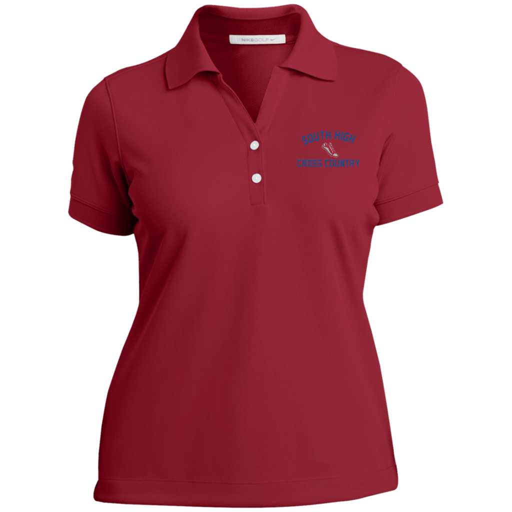 X-Country Vector Logo Outline_Pantone 286772 Ladies Nike® Dri-Fit Polo Shirt