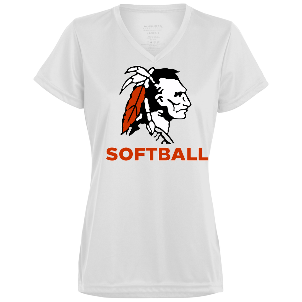 Women's Moisture Wicking T-Shirt - Cambridge Softball - Indian Logo