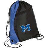 Drawstring Bag with Zippered Pocket - Middletown Block