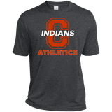 Men's Heather Moisture Wicking T-Shirt - Cambridge Athletics - C Logo