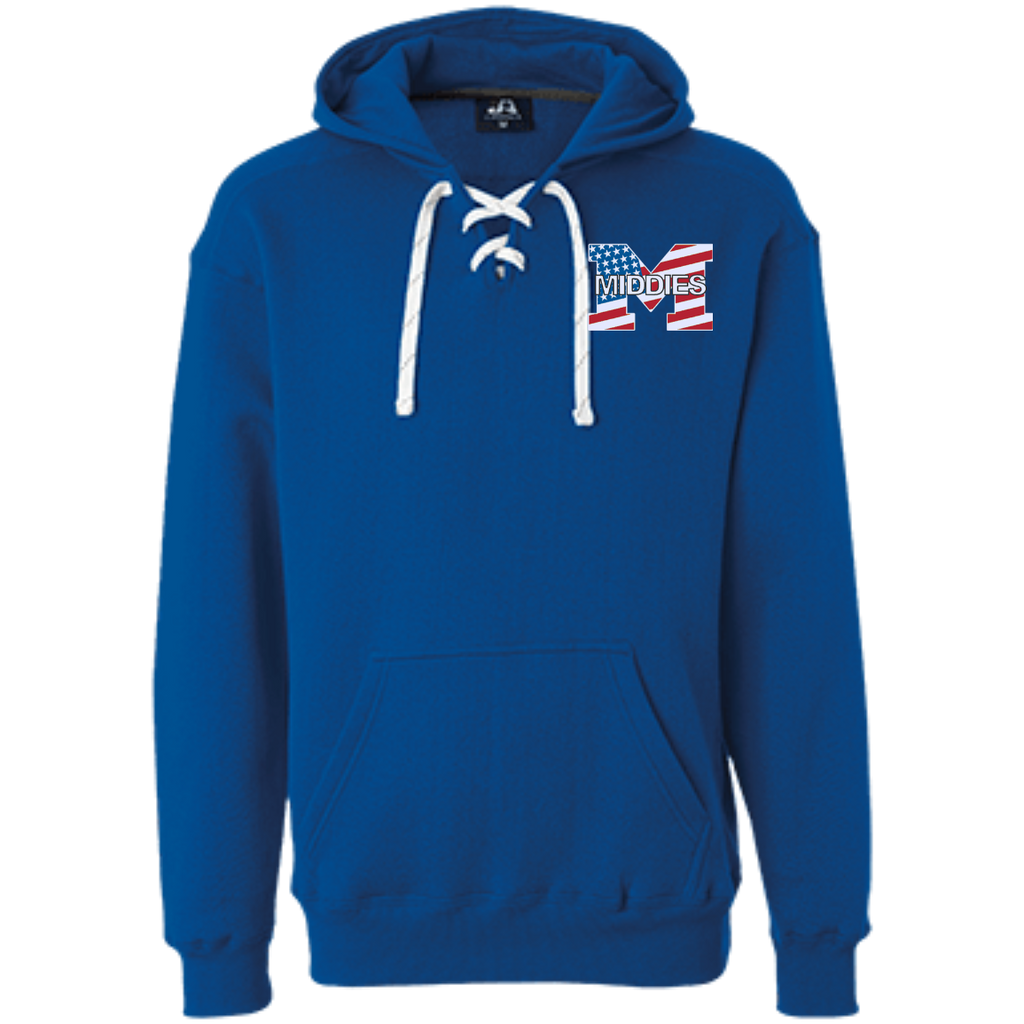 Sport Lace Hooded Sweatshirt - Middletown American Flag