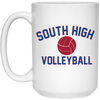15 oz. Coffee Mug - South Glens Falls Volleyball
