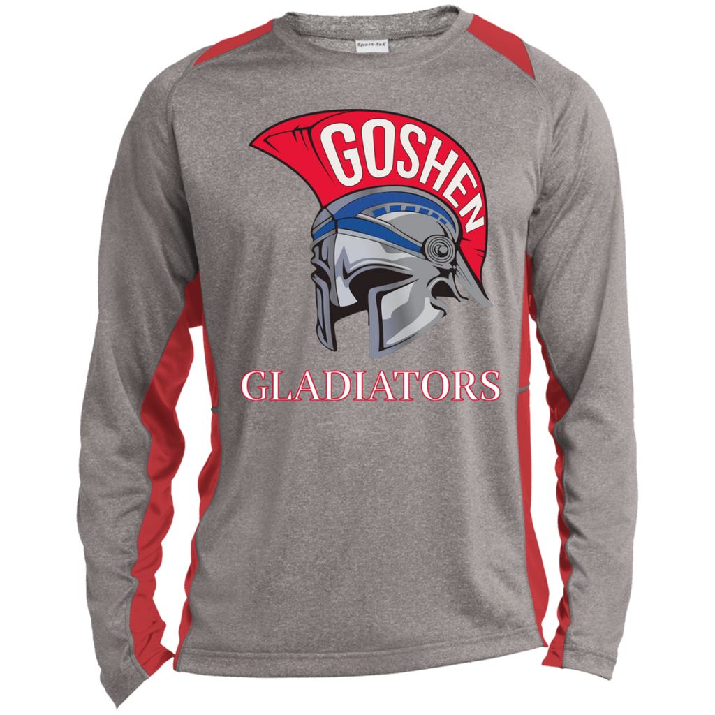 Heather Colorblock Long Sleeve T-Shirt - Goshen Gladiators