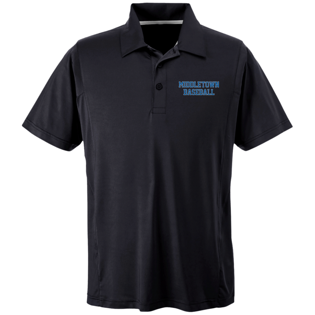 Men's Solid Moisture Wicking Polo - Middletown Baseball