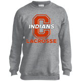 Youth Crewneck Sweatshirt - Cambridge Lacrosse - C Logo