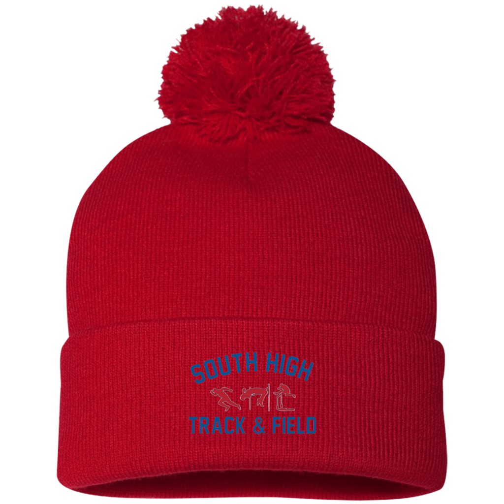 Pom Pom Knit Winter Hat - South Glens Falls Track & Field