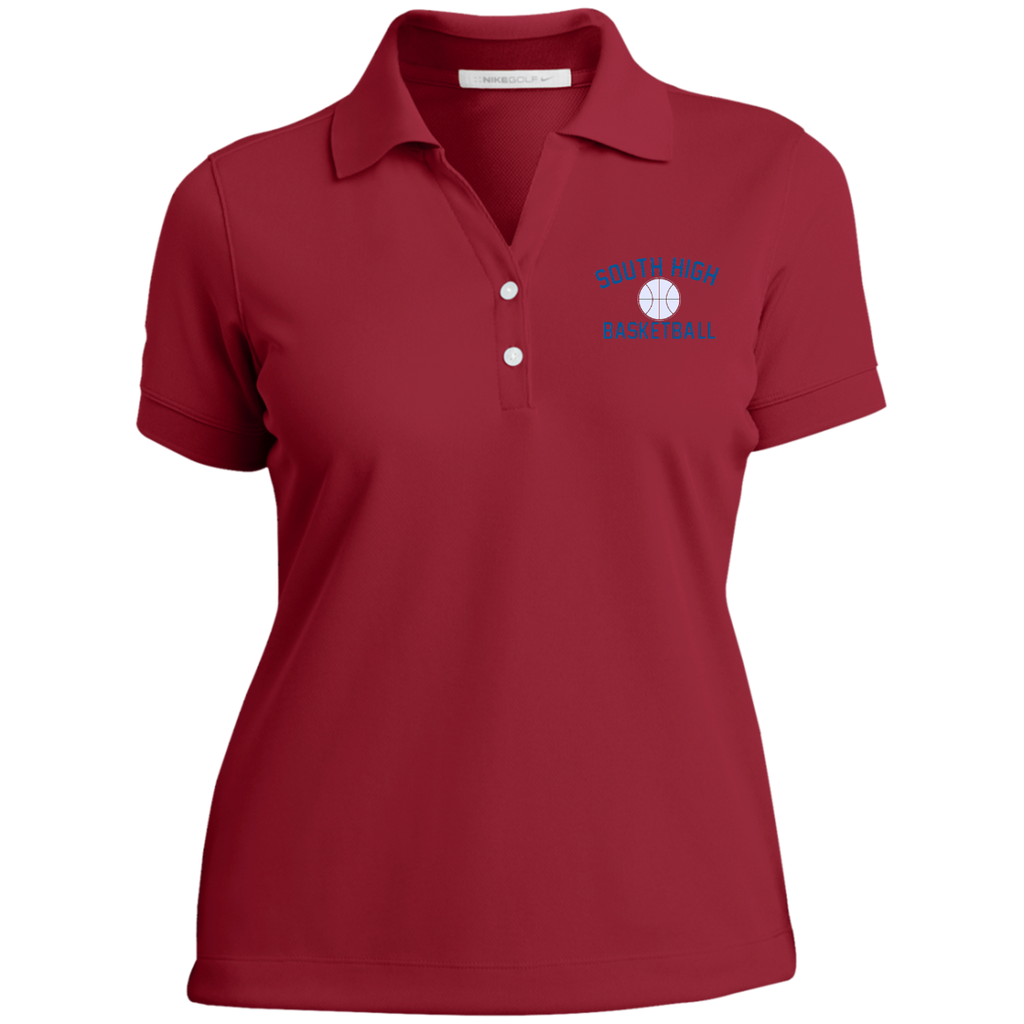Basketball Vector Logo Outline_Pantone 286772 Ladies Nike® Dri-Fit Polo Shirt
