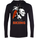 Men's T-Shirt Hoodie - Cambridge Skiing - Indian Logo