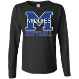 Women's Long Sleeve T-Shirt - Middletown Softball