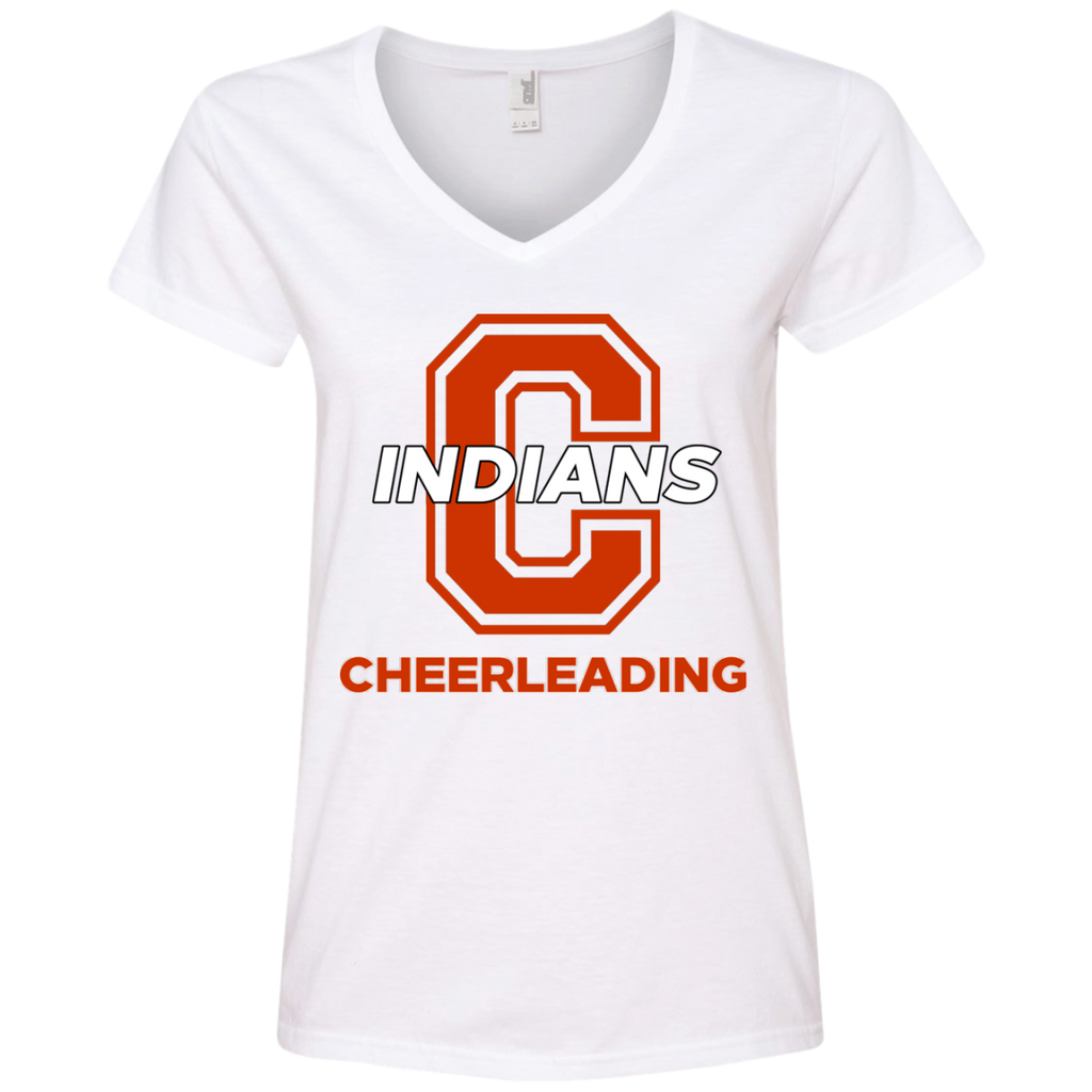 Women's V-Neck T-Shirt - Cambridge Cheerleading - C Logo