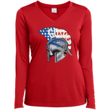 Women's Moisture Wicking Long Sleeve T-Shirt - Goshen American Flag