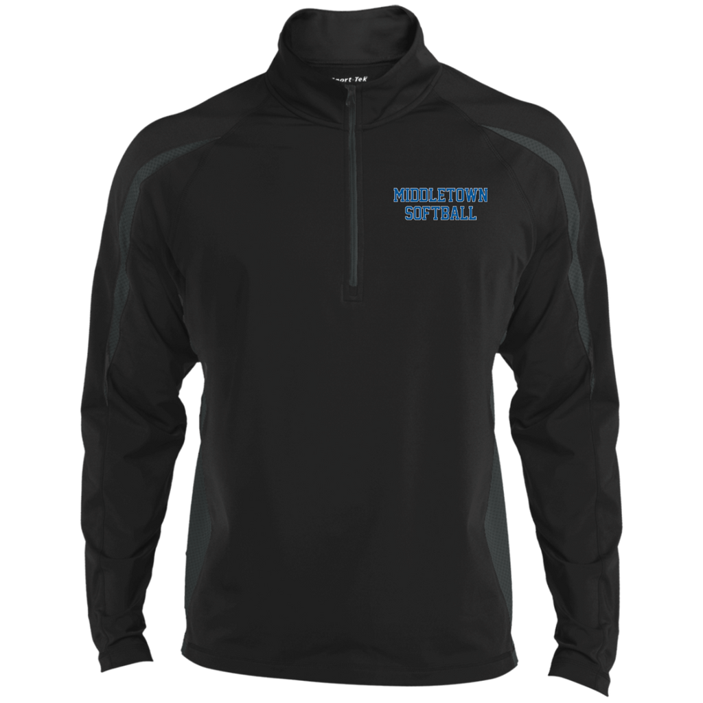 Men's Sport Wicking Half-Zip - Middletown Softball - Block Logo