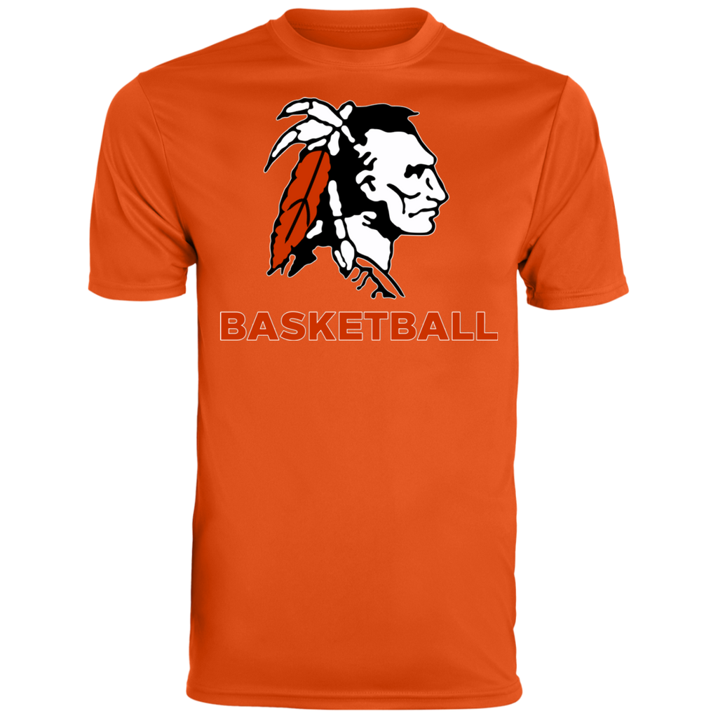 Men's Moisture Wicking T-Shirt - Cambridge Basketball - Indian Logo