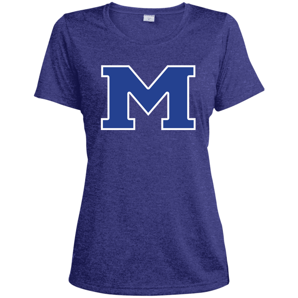 "Women's Heather Moisture Wicking T-Shirt - Middletown Block ""M"""