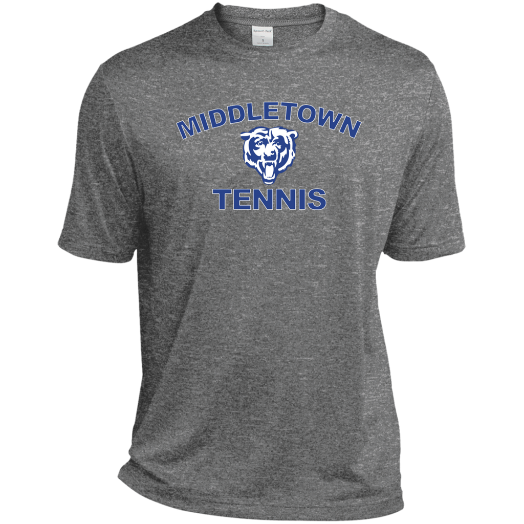 Men's Heather Moisture Wicking T-Shirt - Middletown Tennis - Bear Logo