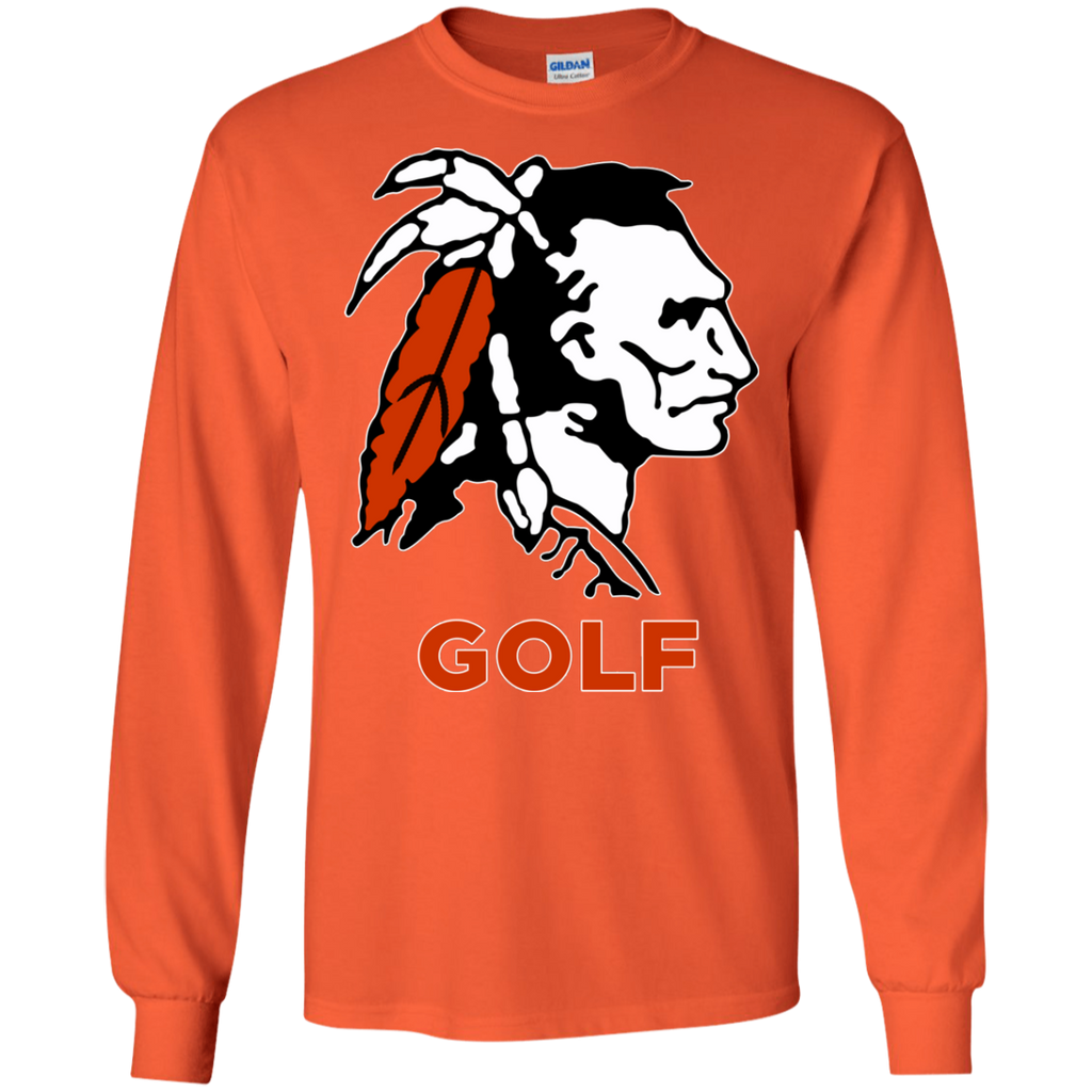 Men's Long Sleeve T-Shirt - Cambridge Golf - Indian Logo