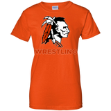 Women's Cotton T-Shirt - Cambridge Wrestling - Indian Logo