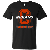 Men's V-Neck T-Shirt - Cambridge Soccer - C Logo