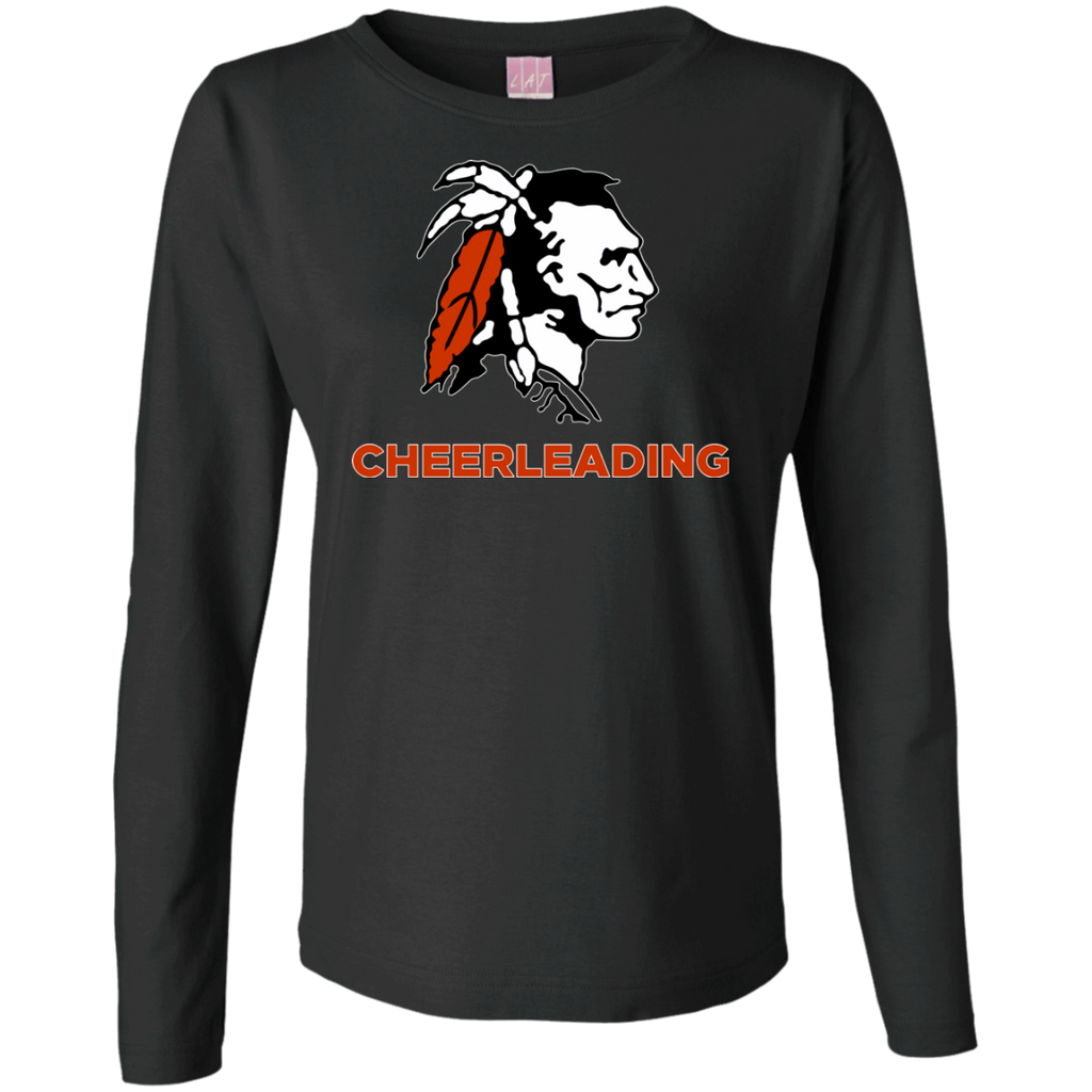 Women's Long Sleeve T-Shirt - Cambridge Cheerleading - Indian Logo