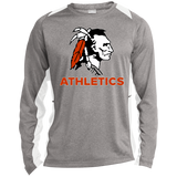 Heather Colorblock Long Sleeve T-Shirt - Cambridge Athletics - Indian Logo