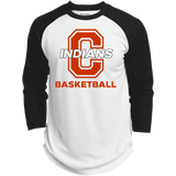 3/4 Sleeve Baseball T-Shirt - Cambridge Basketball - C Logo