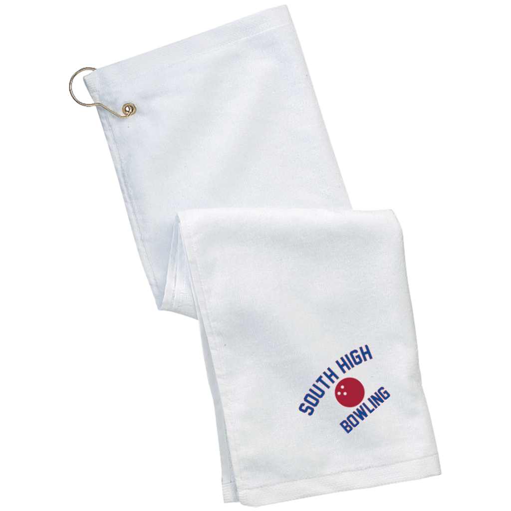 Bowling Vector Logo Outline_Pantone TW51 Port Authority Grommeted Golf Towel