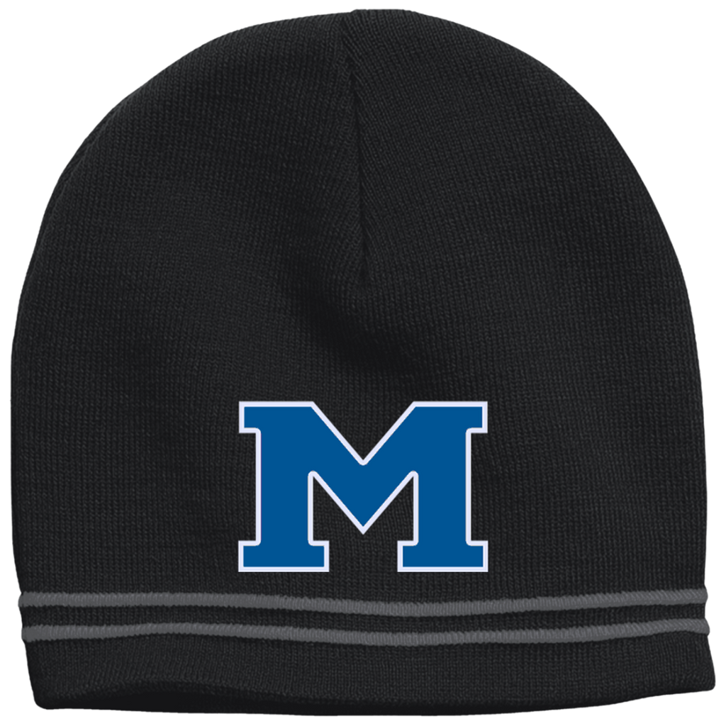 "Colorblock Beanie - Middletown Block ""M"""