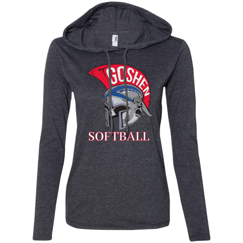 Women's T-Shirt Hoodie - Goshen Softball