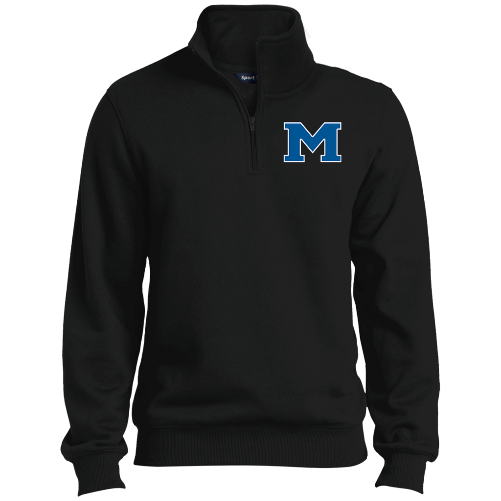 "Men's Quarter Zip Sweatshirt - Middletown Block ""M"""